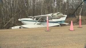 Floatplane makes emergency landing east of Sherwood Park
