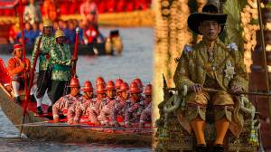 Thai king completes coronation with royal barge procession in Bangkok