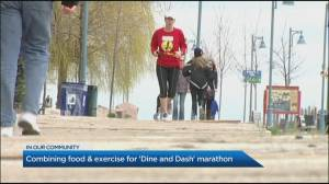 Combining food & exercise for 'Dine and Dash' marathon (03:27)