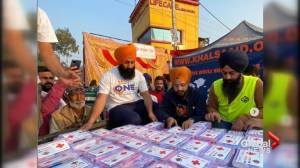 Khalsa Aid Canada speaks about its humanitarian efforts during farmer's protests in India (01:18)