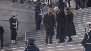 Biden inauguration: Former VP Mike Pence departs U.S. Capitol building (04:21)