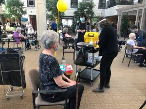 Residents and staff at Canterbury Gardens receive first dose of Pfizer vaccine (01:54)