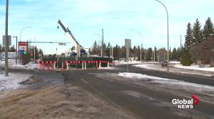 Fiberglass pipe from Dubai needed to repair massive hole in south Edmonton sewer line (01:33)
