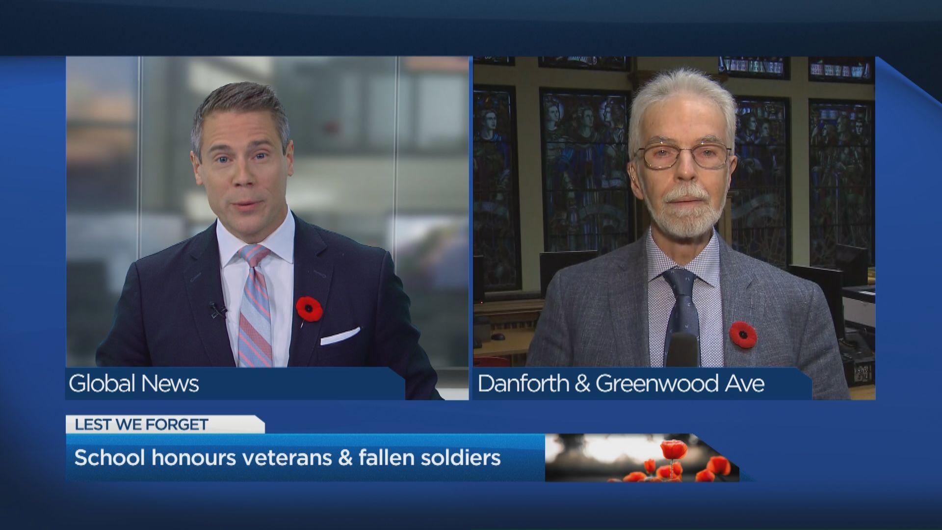School honours veterans and fallen soldiers