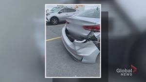 Single mother finds significant damage to parked car after alleged hit and run