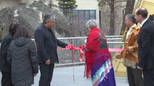 Crystal teepee erected to honour heritage of Okanagan Indian Band