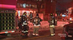Firefighters battle five-alarm fire at north-end Toronto apartment building