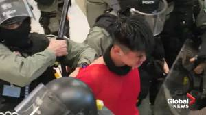 Hong Kong police crack down on mall demonstrations in Sheung Shui district