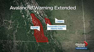 Avalanche warning extended to Kananaskis Country