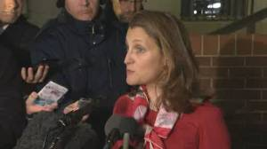 Freeland says Canada respects Mexico and U.S. domestic ratification process