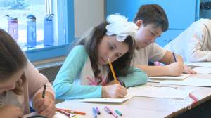 Saint John students send holiday greetings to troops