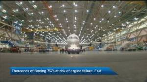 FAA warns thousands of Boeing 737 planes at risk of engine failure (00:55)