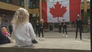 Flash mob to honour victims of Lynn Valley tragedy (01:55)