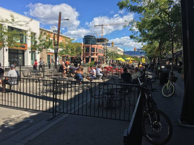 Click to play video: Bernard Avenue to close expanded patio spaces, reopen to vehicle traffic
