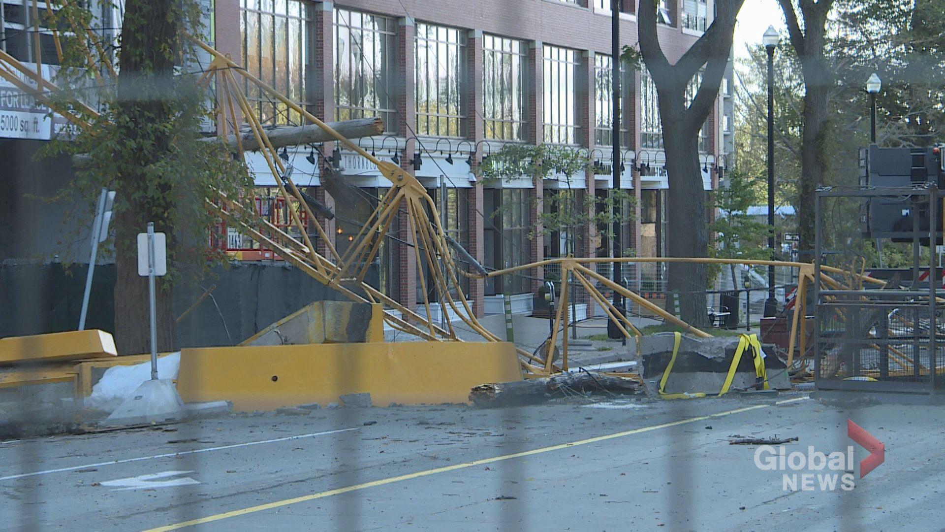 Evacuees left in the dark after Halifax crane collapse