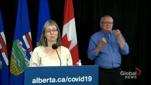 Hinshaw taking province-wide numbers into account when it comes to mask recommendations (01:51)