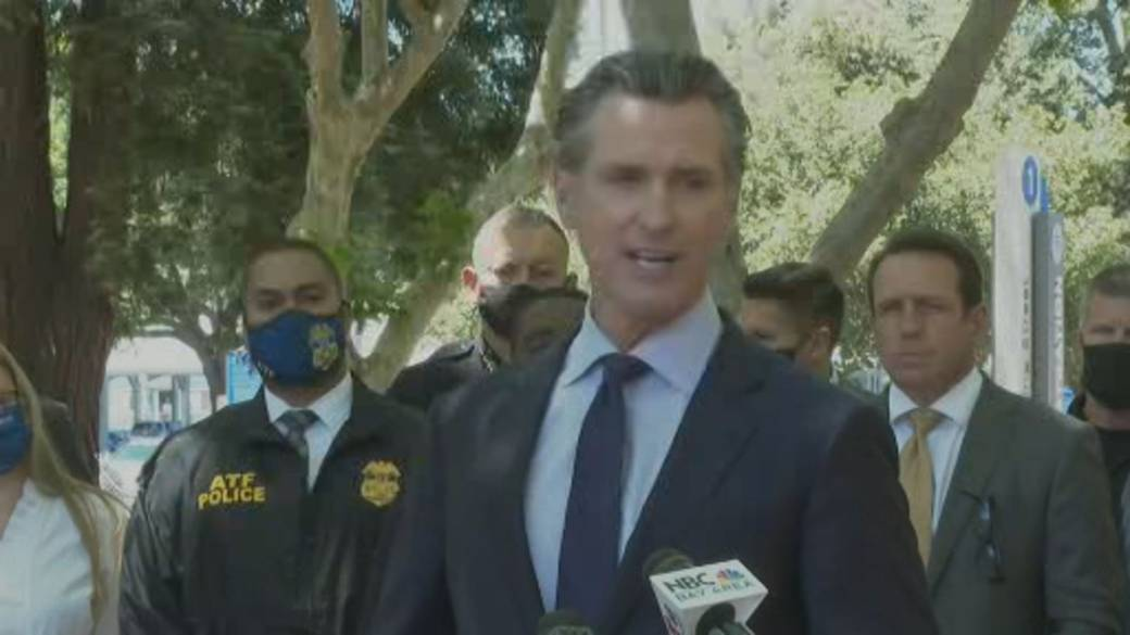 Click to play video: 'San Jose rail yard shooting: California governor says there's a 'numbness' and 'sameness' to incident'