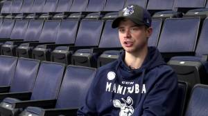 Eric Comrie 'extremely happy' to be back in Winnipeg (01:30)