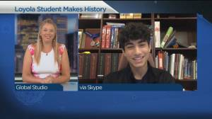 The Loyola student who just made history