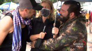 TVA reporter presses charges following anti-mask protest (01:50)