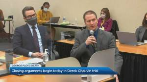 Closing arguments begin in trial for former Minneapolis officer accused of killing George Floyd (03:42)