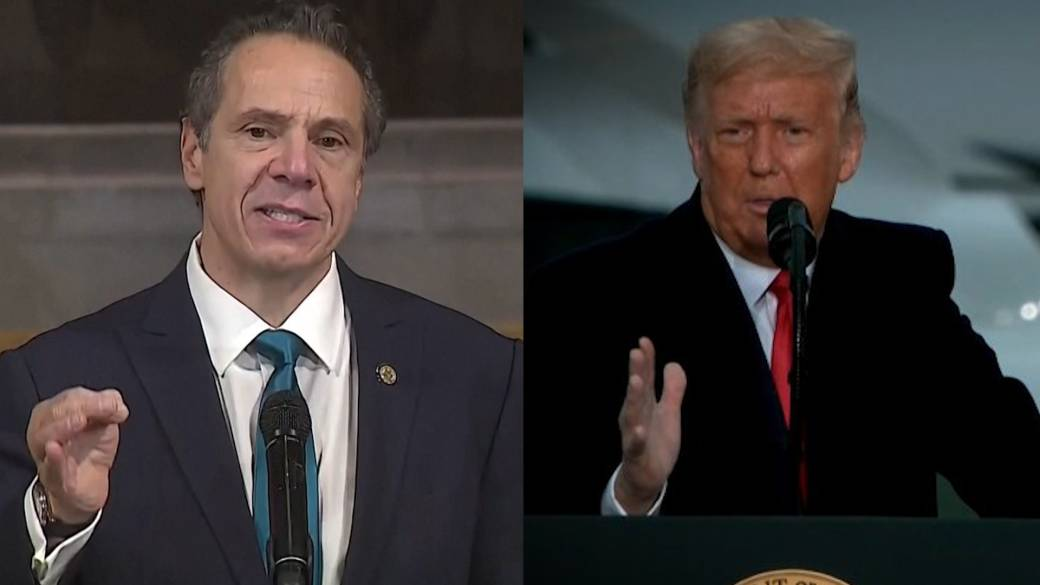 Click to play video 'Coronavirus: N.Y. Gov. Cuomo warns of legal action if Trump withholds vaccine from state'