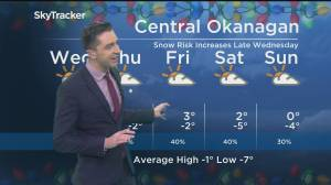Kelowna Weather Forecast: December 10