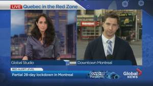 Montreal & Quebec City enter the 'red zone'