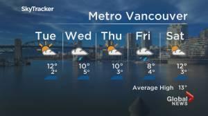 B.C. evening weather forecast: April 5 (01:48)