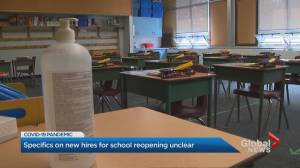 Coronavirus: Specifics on hires for Ontario school reopening unclear (01:54)