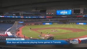 Toronto Blue Jays get set for return to play at Rogers Centre (01:25)