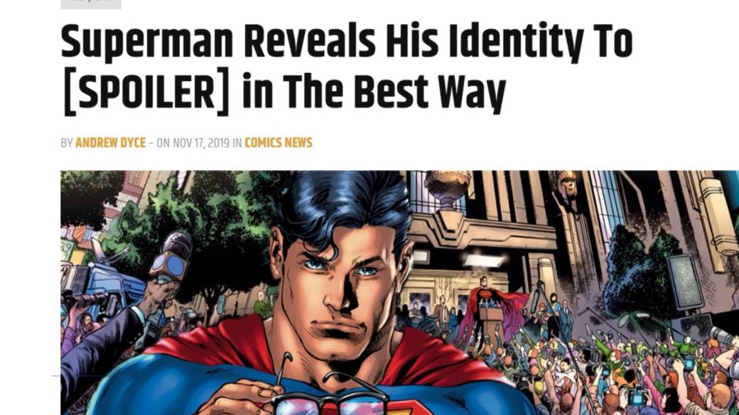 Click to play video: 'Superman announces his identity to the world'