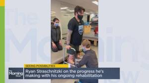 Humbodlt Bronco Ryan Straschnitzki shares his road to recovery (03:21)
