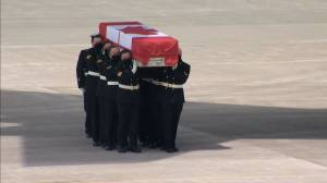 Solemn ramp ceremony held at CFB Trenton for Sub-Lt. Abbigail Cowbrough (07:31)