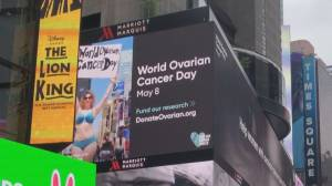 Late Sask. model's cancer message shines on massive Times Square billboard (01:34)