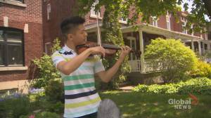 Coronavirus outbreak: Canadian violinists unite in isolation to perform virtual tribute