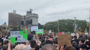 George Floyd protests: Thousands protest police brutality in New York