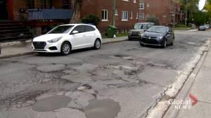 Crumbling roads plague Montreal's largest borough (02:06)
