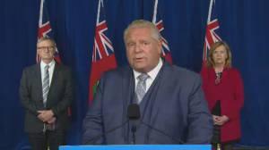 Coronavirus: Ontario Premier Doug Ford says province updating threshold warning levels (03:31)