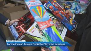 The 10th Annual Toronto Firefighters Toy Drive