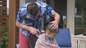 Coronavirus: Home haircut fundraiser helps Okanagan College health-care students
