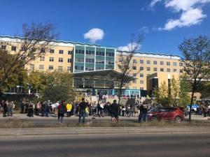 Protest held in Edmonton against idea of COVID-19 passports (02:31)