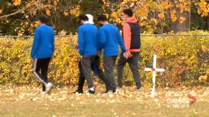 Calgary students get active to honour military veterans: 'We are so blessed to be living in Canada' (01:33)