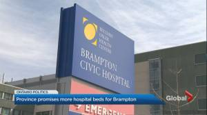 Brampton getting more hospital beds, but in what form? (02:45)