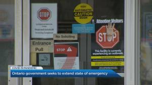 Ontario government seeks to extend State of Emergency amid coronavirus pandemic