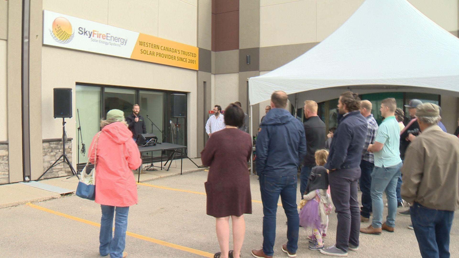 Solar industry rallies in Regina against SaskPower announcement
