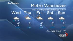 B.C. evening weather forecast:  Jan. 26 (02:05)