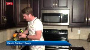 Thanksgiving recipes from Global Calgary: Matthew's cranberry sauce
