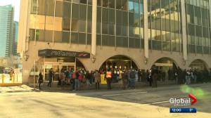 Dueling rallies held at Teck Resources' Calgary office