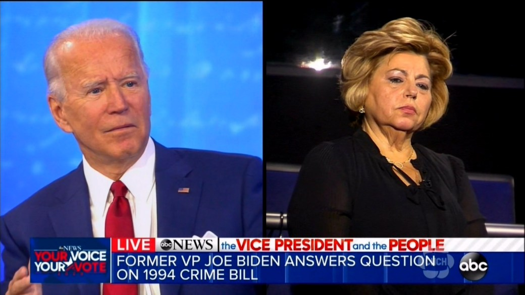 Click to play video 'Biden says it was a 'mistake' to support past U.S. crime bill'